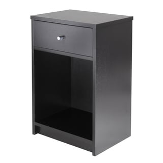 Squamish Night Stand /Accent table with 1 Drawer, Black