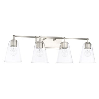 Capital Lighting Signature Collection 4-light Brushed Nickel Bath/Vanity Light