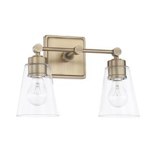2-light Aged Brass Bath/Vanity Fixture