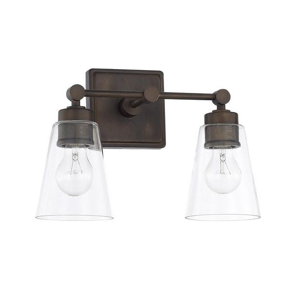 13 Dreamy Bathroom Lighting Ideas: Shop Capital Lighting Signature Collection 2-light Olde