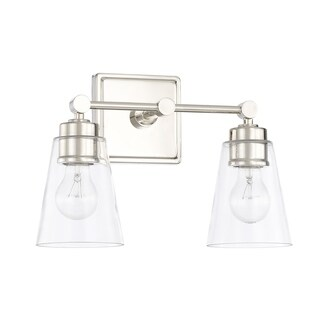 Capital Lighting Signature Collection 2-light Polished Nickel Bath/Vanity Light