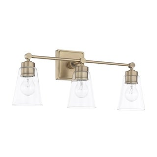 Capital Lighting Signature Collection 3-light Aged Brass Bath/Vanity Light