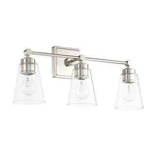Capital Lighting Signature Collection 3-light Polished Nickel Bath/Vanity Light