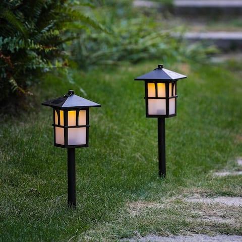 Set of 2 Pagoda Solar Pathway Lights