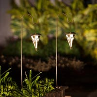Set of 2 Flower Solar Lights with Shepherd's Hooks