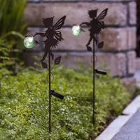 Set of 2 Fairy Solar Light Stakes