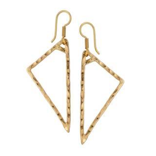 Handmade Alchemia Hammered Drop Earrings (Mexico)