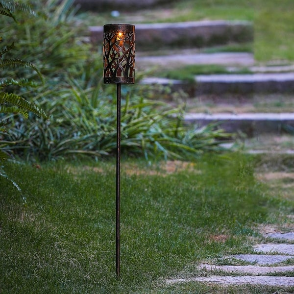 Metal Prism Solar Light Stakes Free Shipping On Orders Over 45 15390636