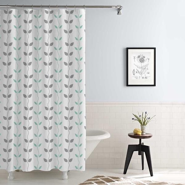 Amrapur Overseas Waterproof Vines Printed Shower Curtain