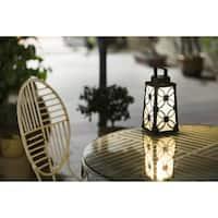 Square Metal Lantern Solar Light