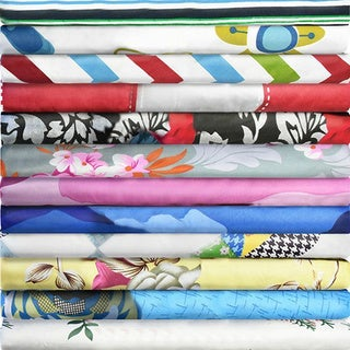Printed Design 6-piece Bed Sheet Set, - Soft Brushed Microfiber, With Deep Pocket Fitted Sheet.