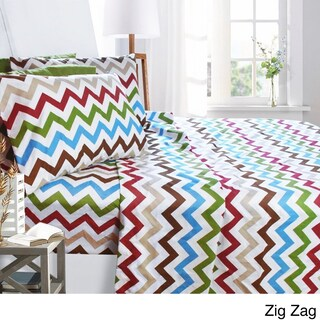 Printed Design 6-piece Bed Sheet Set, - Soft Brushed Microfiber, With Deep Pocket Fitted Sheet. (More options available)