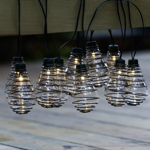 Glass Bulbs with Metal Wire String Lights(12.8ft) - Free Shipping On Orders Over USD 45 - Overstock ...