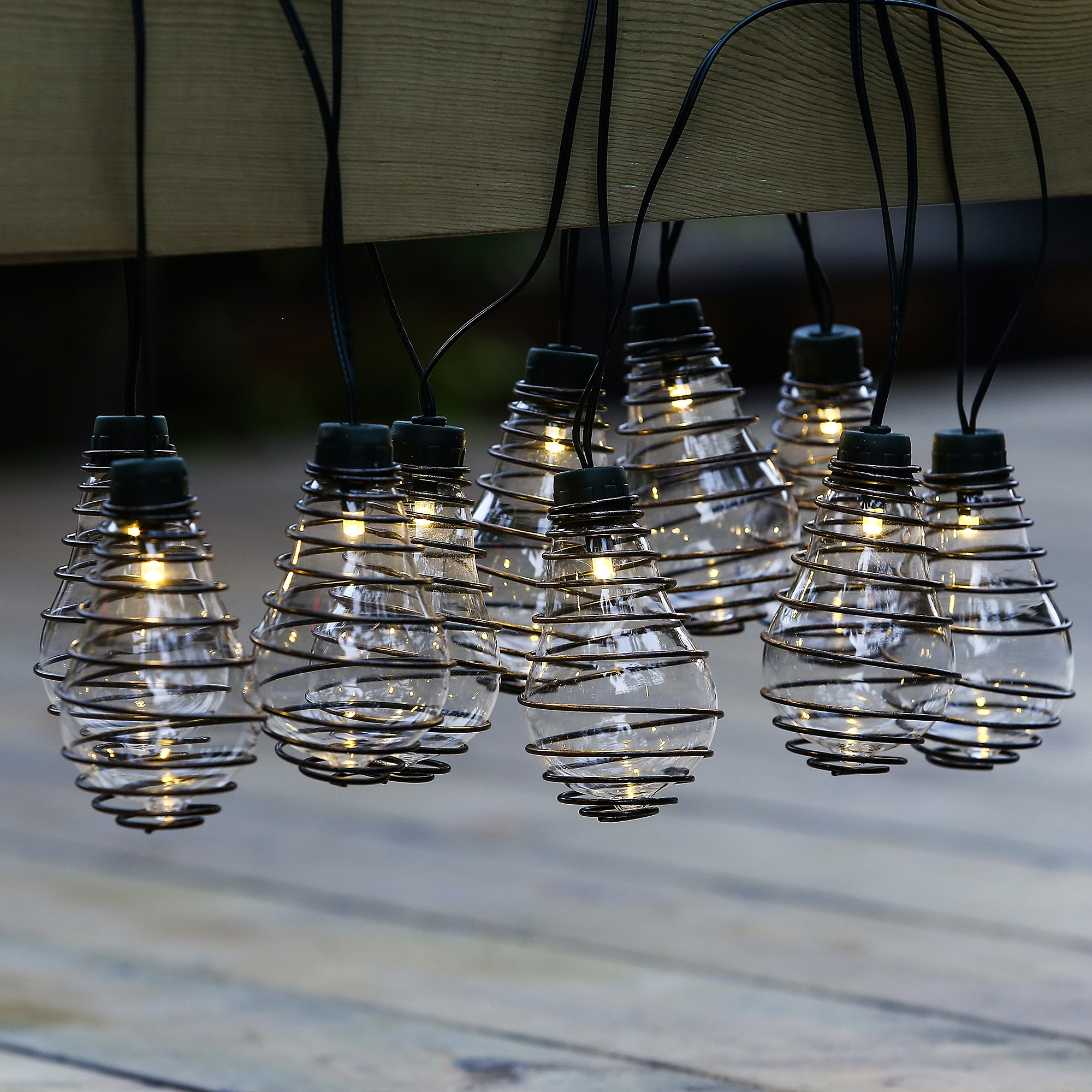 Glass Bulbs with Metal Wire String Lights(12.8ft) (SEE Pr...