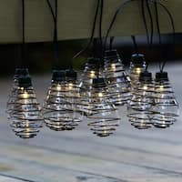Glass Bulbs with Metal Wire String Lights(12.8ft)