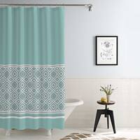 Amrapur Overseas Waterproof Oxford Stripe Printed Shower Curtain