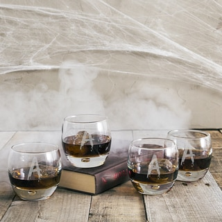 Personalized Spooky 10.75 oz. Heavy Based Whiskey Glasses (Set of 4)