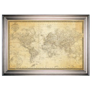 Link to Vintage Wold Map v Parchment -Silver Frame Similar Items in Canvas Art