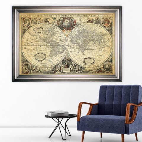 Parchment Treasue Map -Silver Frame