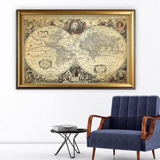 Parchment Treasue Map - Gold Frame