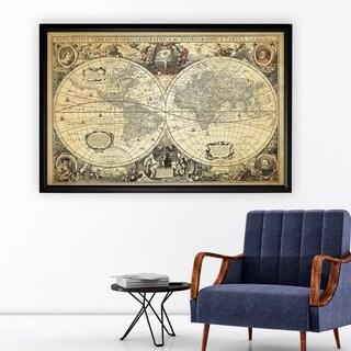 Parchment Treasue Map - Black Frame