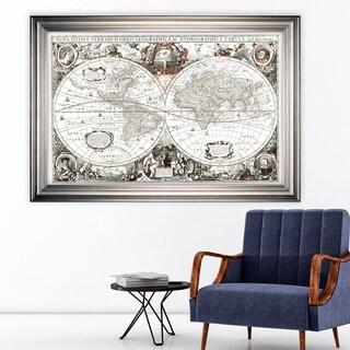 Treasue Map -Silver Frame