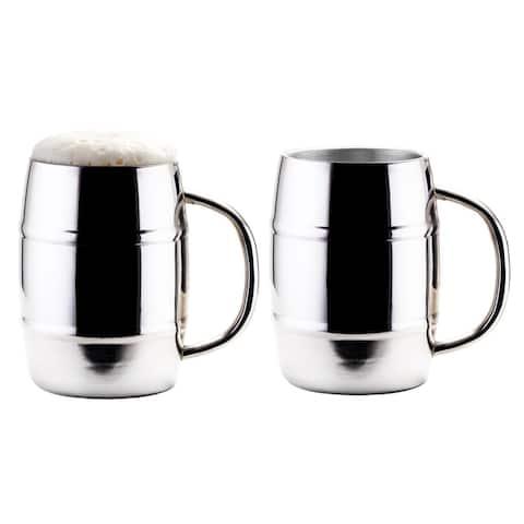 Jumbo KeepKool® 33.8 Oz. Double Walled Stainless Steel Mugs, Set of 2