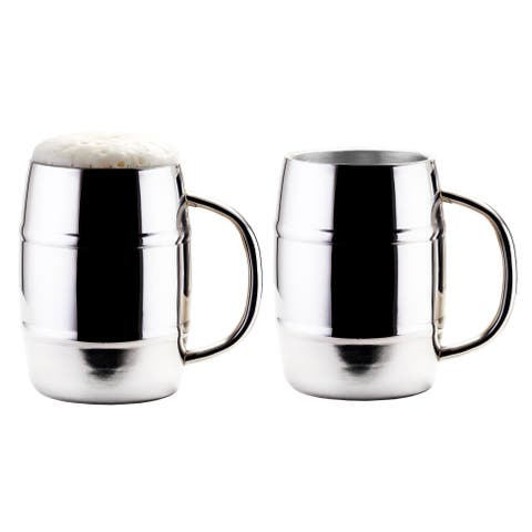 Jumbo KeepKool® 33.8 Oz. Double Walled Stainless Steel Mugs, Set of 2