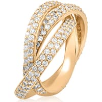 14k Yellow Gold 2 5/8 ct TW Diamond Eco Friendly Lab Grown Pave Rolling Ring Eternity 3 Bands (F-G,VS1-VS2)