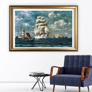 Ships at Sea II - Gold Frame
