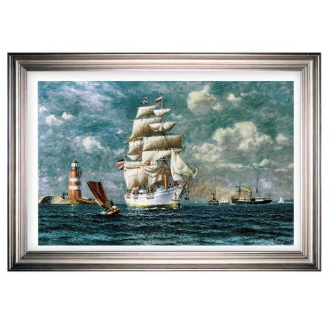 Ships at Sea II -Silver Frame