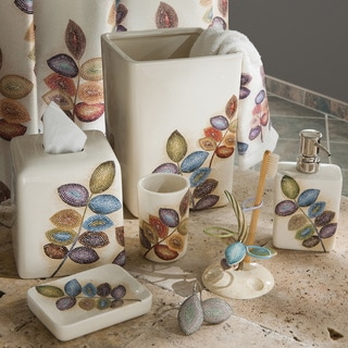 Croscill Mosaic Leaves Bath Collection