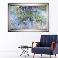Wisteria -Claude Monet -Silver Frame