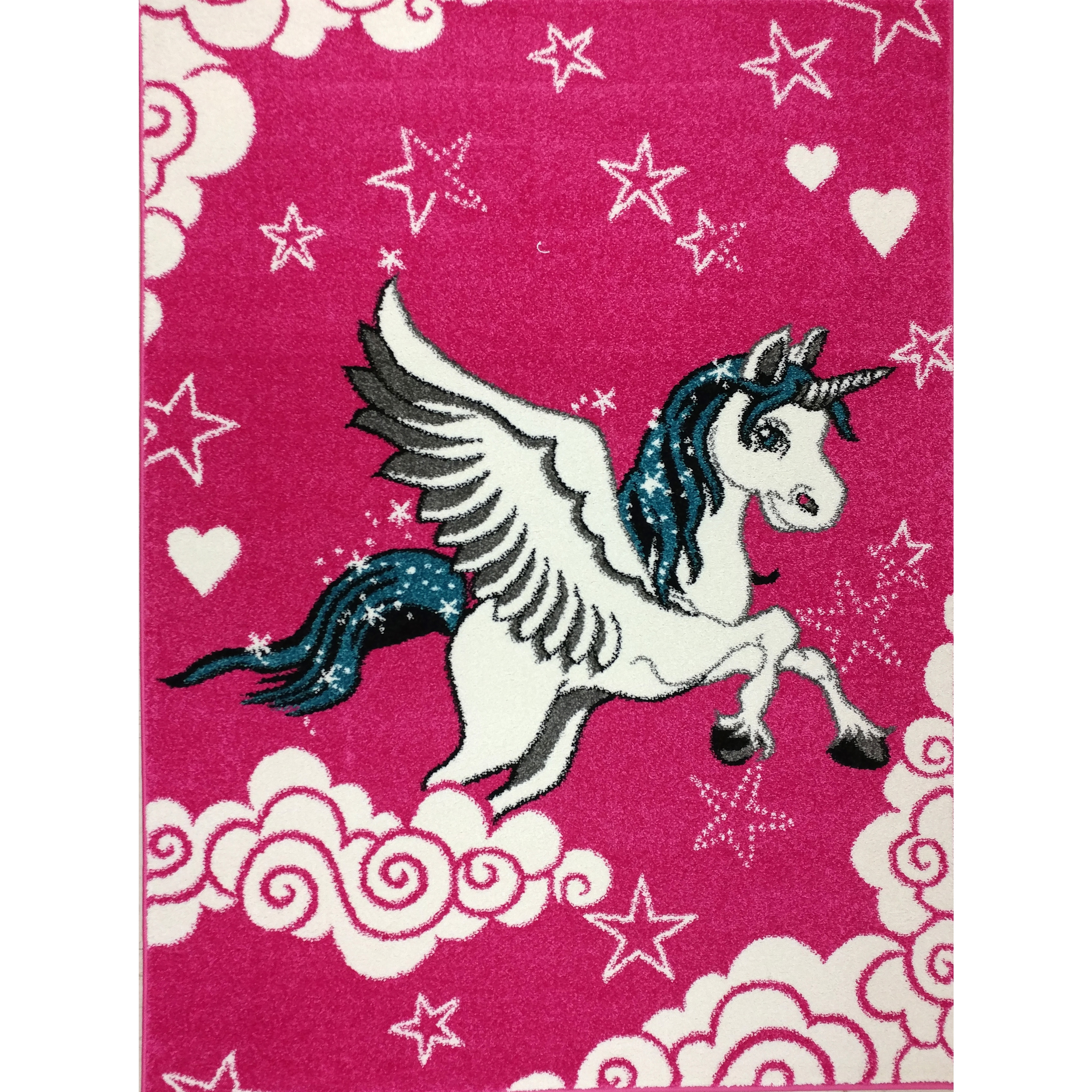 KC Cubs Pink Unicorn Boy and Girl Bedroom Modern Decor Ar...