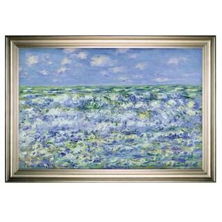 Waves-Breaking -Claude Monet -Silver Frame