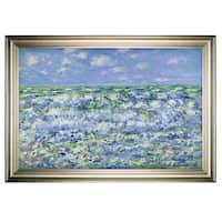 Waves-Breaking -Claude Monet -Silver Frame