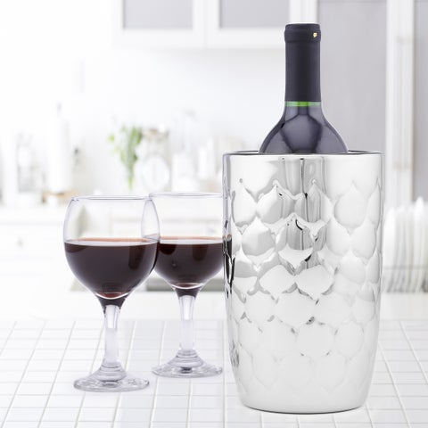 Avante Embossed Stainless Steel Double Walled Wine Cooler