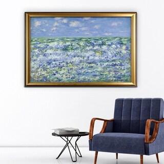 Waves-Breaking -Claude Monet - Gold Frame