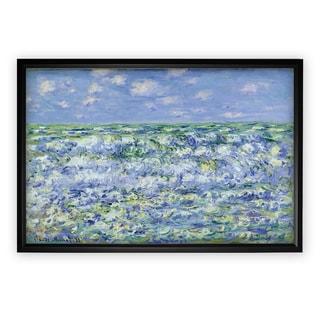 Waves-Breaking -Claude Monet - Black Frame