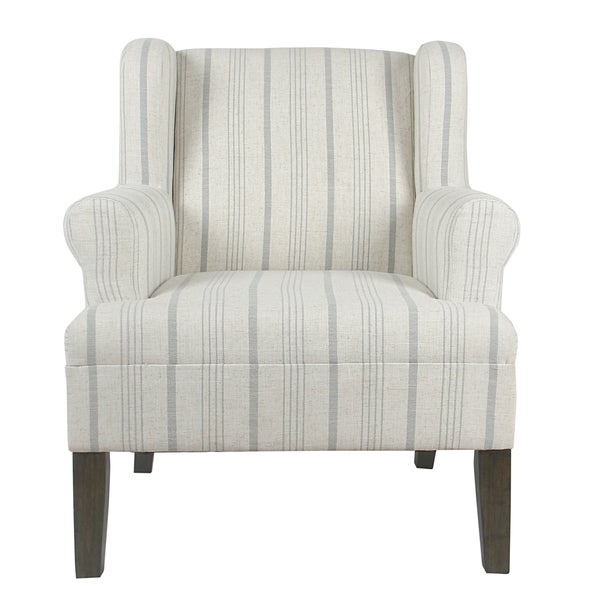 Shop Homepop Emerson Rolled Arm Accent Chair Dove Grey