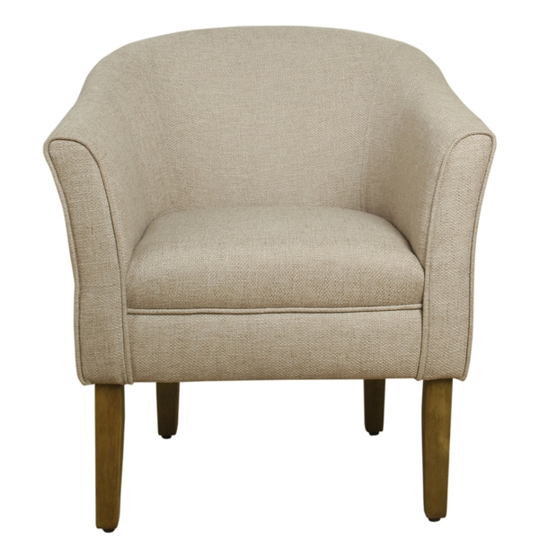 HomePop Modern Barrel Accent Chair   Flax Brown