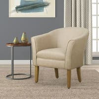 Porch & Den Kingswell Flax Brown Barrel Accent Chair