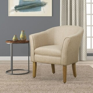 HomePop Modern Barrel Accent Chair - Flax Brown