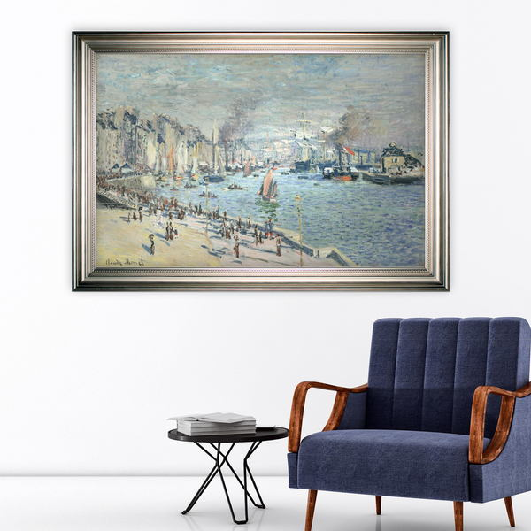 Old-Outer-Harbor -Claude Monet -Silver Frame