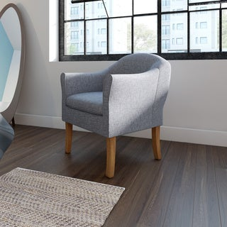 HomePop Modern Barrel Accent Chair -  Charcoal