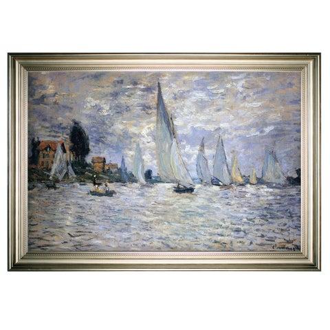 Boats-Regatta -Claude Monet -Silver Frame