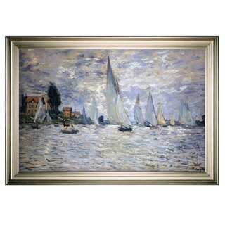 Boats-Regatta -Claude Monet -Silver Frame