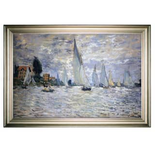 Boats-Regatta -Claude Monet -Silver Frame|https://ak1.ostkcdn.com/images/products/15390831/P21849252.jpg?impolicy=medium