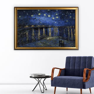 Over-the-Rhone -Claude Monet - Gold Frame
