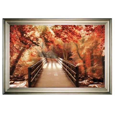Autumn Bridge -Silver Frame
